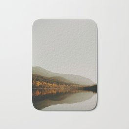 The Faded Forest on a River (Color) Bath Mat