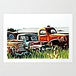 Trucking around Art Print