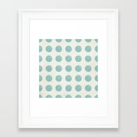 polka dots Framed Art Prints featuring Polka Dots by Juste Pixx Designs