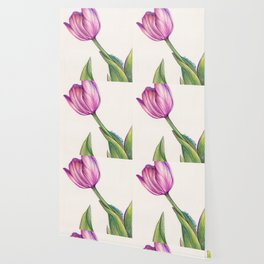 Purple Tulip in Colored Pencil Wallpaper