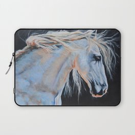 White horse, Horse, Canvas Print, Horse Painting, White Horse Art, Horse, Art, Equestrian Art, Horse Laptop Sleeve