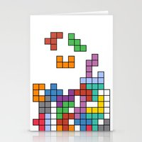 tetris Stationery Cards featuring Tetris by Adayan