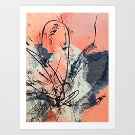 Perennial: abstract floral painting by Alyssa Hamilton Art Art Print