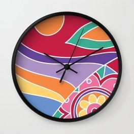 Retro chic Wall Clock