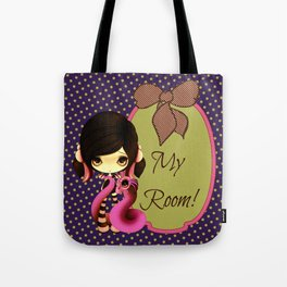 Pink & Green Goth Dragoness Tote Bag