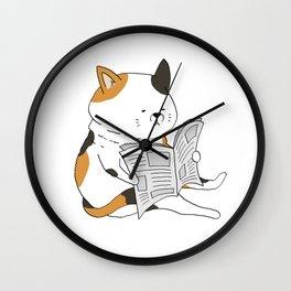 Morning Cat II Wall Clock
