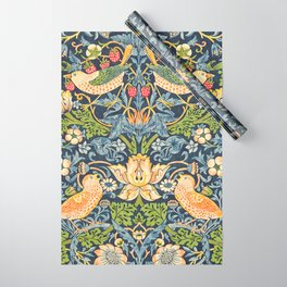 William Morris Strawberry Thief Restored Wrapping Paper