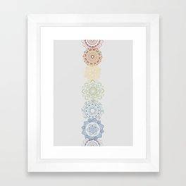 Chakra Mandala Framed Art Print