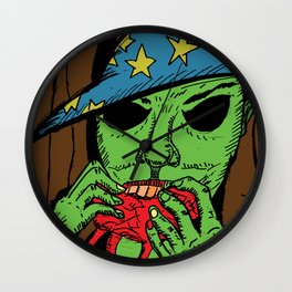 The Warlock in the Woods Wall Clock