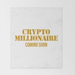 CRYPTO MILLIONAIRE Throw Blanket