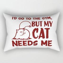 My Cats Needs Me Rectangular Pillow