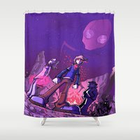 doom Shower Curtains featuring Impending Doom by Phil Vazquez