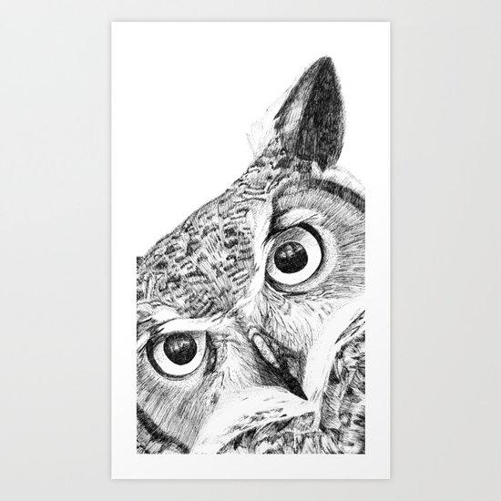 Hoo's There? Art Print
