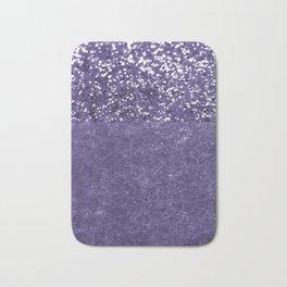 Ultra Violet Glitter Meets Ultra Violet Concrete #1 #decor #art #society6 Bath Mat