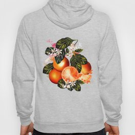 Citrus paradise. Tropical pattern with oranges Hoody