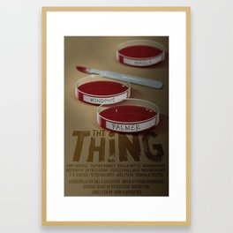 The Thing 1982 movie poster Framed Art Print