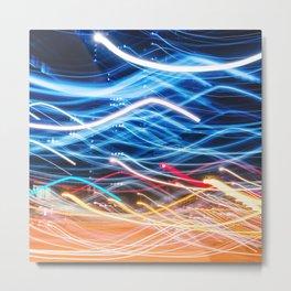 abstract light trail  Metal Print