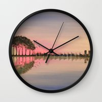 guitar Wall Clocks featuring Guitar by OLHADARCHUK