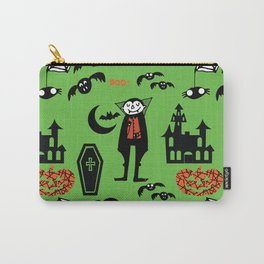 Cute Dracula and friends green #halloween Carry-All Pouch