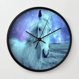 Blue Horse Celestial Dreams Wall Clock