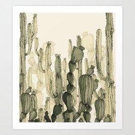 Drawing Cactus Art Print