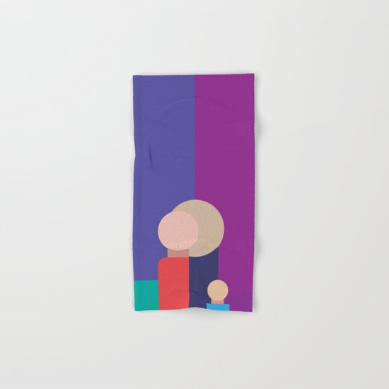 Family - Father, Mother, Child Hand & Bath Towel