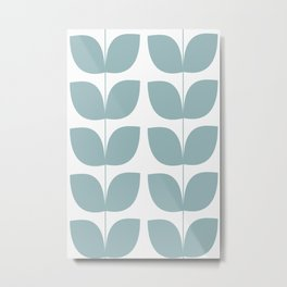 Mid Century Modern Leaves 01 Metal Print