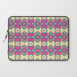 Lily Pulitzer Inspired Spanish Tiles Pattern Laptop Sleeve