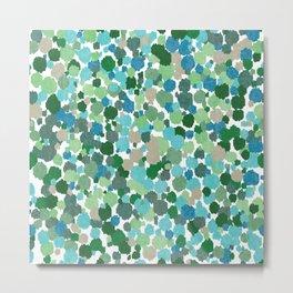 Green Abstract Print Paint Splashes Pattern  Metal Print