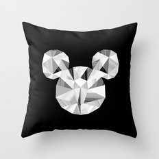 Silver Pop Crystal Throw Pillow