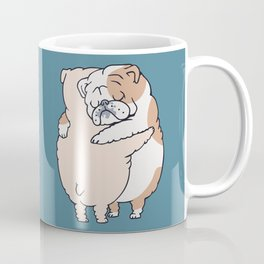 English Bulldog Hugs Coffee Mug