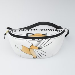 It's COVID Outside! A Sweet Fox Hides Under Your T-Shirt Fanny Pack