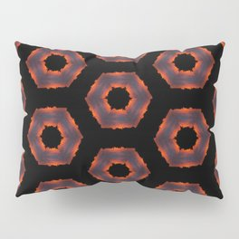 Fiery Red & Orange Circles Pillow Sham