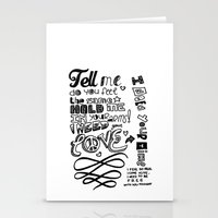lettering Stationery Cards featuring Lettering Lyrics by Insait disseny