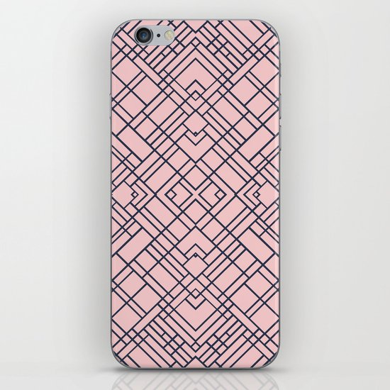 Map Out 45 Blush iPhone Skin