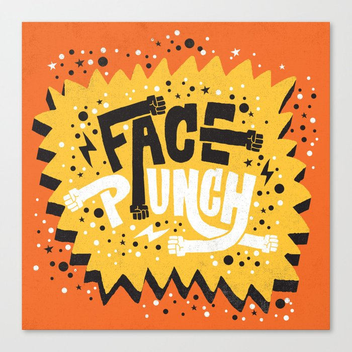 FACE PUNCH Canvas Print