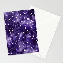Zodiac Watercolor Ultraviolet Stationery Cards