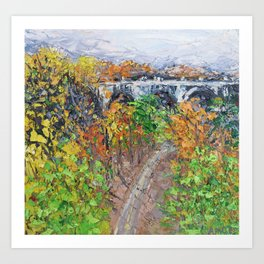 Autumn in Rock Creek Art Print