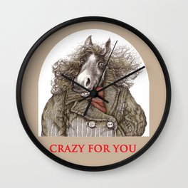 Gallant steed Wall Clock