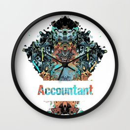 Accountant job gift awesome profession and great career Wall Clock