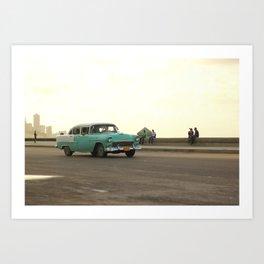 Cuba Cruising Art Print