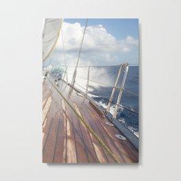 sailing in rough seas- nautical photography- ocean Metal Print
