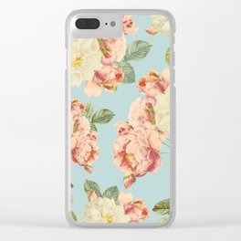 Flora temptation - sky blue Clear iPhone Case