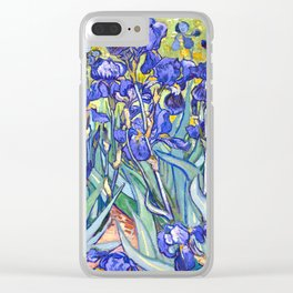 Vincent Van Gogh Irises Clear iPhone Case