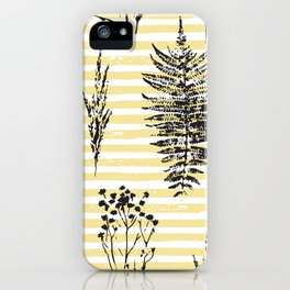 Botanicals & Stripes iPhone Case