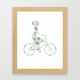 Cycling 67 Framed Art Print