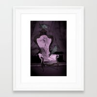 haunted mansion Framed Art Prints featuring Haunted Mansion by Abigail Larson