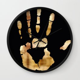 Golden Hand Wall Clock