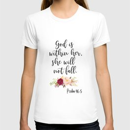 God is within her T-shirt
