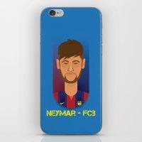 neymar iPhone & iPod Skins featuring Neymar Barcelona by Sport_Designs